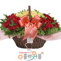 그대가 머무는곳 100송이 장미_ 대형장미꽃바구니 특별한 꽃선물 꽃배달 플라워몰