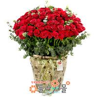 [당일배송][100송이]너에게로 가는 길(백송이장미)♡ 대형꽃바구니 생일 기념일 꽃선물_꽃배달당일배송_명품 전국꽃배달_[플라워몰]