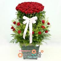 [당일배송][100송이]행복한 날(백송이장미)♡ 대형꽃바구니 생일 기념일 꽃선물_꽃배달당일배송_명품 전국꽃배달_[플라워몰]