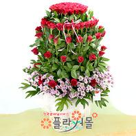 사랑 가득히 100송이 장미_ 장미대형꽃바구니 이벤트 꽃선물 플라워몰