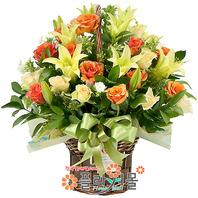 [당일배송]자기야 사랑해♡ 장미 백합 꽃바구니 꽃다발 생일 기념일 꽃선물_전국 당일꽃배달서비스_명품꽃배달[플라워몰]
