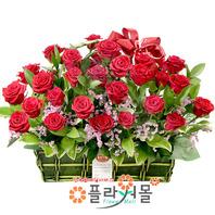[당일배송]행복하라고 ♡ 장미 꽃바구니 꽃다발 생일 기념일 꽃선물_꽃배달당일배송_명품 전국꽃배달_[플라워몰]