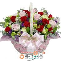 [당일배송]뿌잉뿌잉♡ 핑크 빨간 장미 꽃바구니 꽃다발 생일 기념일 꽃선물_전국 당일꽃배달서비스_명품꽃배달[플라워몰]