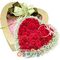 너에게 100송이 장미_ 하트빨간장미대형꽃상자 발렌타인데이 꽃선물 플라워몰