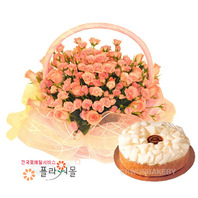 사랑의꿈 꽃바구니와케익