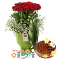 [꽃과케익 당일배송]그대가 머무는 곳♡ 장미 꽃바구니 꽃다발 생일 기념일 꽃선물 케잌배달_ 전국 당일꽃배달서비스_명품 전국꽃배달케익배달[플라워몰]