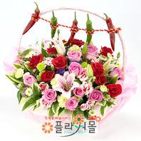 [출산꽃바구니]멋쟁이 아가 태어난날♡ 출산선물 출산꽃배달 출산축하선물 출산축하꽃바구니_꽃배달당일배송_ 명품 전국꽃배달[플라워몰]