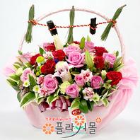 [출산꽃바구니]예쁜이 아가 태어난날♡ 출산선물 출산꽃배달 출산축하선물 출산축하꽃바구니_꽃배달당일배송_ 명품 전국꽃배달[플라워몰]