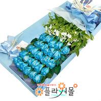 [당일배송]함께여서 행복해♡ 장미꽃다발 꽃상자 생일 기념일 꽃선물 꽃배달당일배송_ 전국꽃배달 전문[플라워몰]