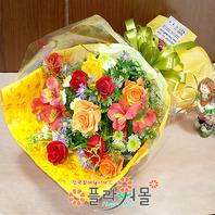 [당일배송]축하하는 마음 가득♡ 장미 혼합 꽃다발 생일 기념일 꽃선물_전국 당일꽃배달서비스_명품꽃배달[플라워몰]