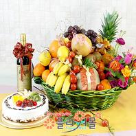 축하1호(특)(꽃과 과일,샴페인(무알콜),케익)