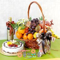 축하3호(꽃과 과일,샴페인(무알콜),케익)