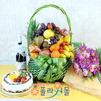 축하5호(꽃과 과일,샴펜(무알콜),케익)