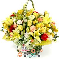 [당일배송]축하합니다♡ 장미 꽃바구니 꽃다발 생일 기념일 꽃선물_꽃배달당일배송_명품 전국꽃배달_[플라워몰]