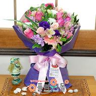 [당일배송]소녀의 꿈♡ 장미 혼합 꽃다발 생일 기념일 꽃선물_전국 당일꽃배달서비스_명품꽃배달[플라워몰]
