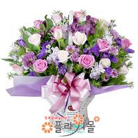 ♣[당일배송]우리 처음 만난날♡ 장미 꽃바구니 꽃다발 생일 기념일 꽃선물_꽃배달당일배송_명품 전국꽃배달_[플라워몰]