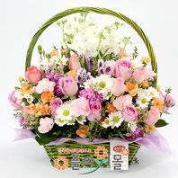 [당일배송]꽃잎 인연♡ 핑크장미 꽃바구니 꽃다발 생일 기념일 꽃선물_꽃배달당일배송_명품 전국꽃배달_[플라워몰]
