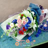[당일배송]봄 향기 가득♡ 장미 혼합 꽃다발 생일 기념일 꽃선물_전국 당일꽃배달서비스_명품꽃배달[플라워몰]