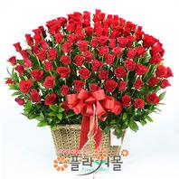 [당일배송][100송이]사랑하기 좋은 날(백송이장미)♡ 대형꽃바구니 생일 기념일 꽃선물_꽃배달당일배송_명품 전국꽃배달_[플라워몰]