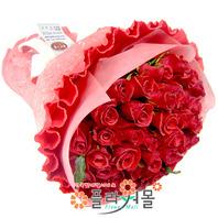 [당일배송]자꾸만 심쿵해♡ 장미 꽃다발 생일 기념일 꽃선물_전국 당일꽃배달서비스_명품꽃배달[플라워몰]
