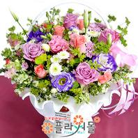 [당일배송]행복드림♡ 장미 꽃바구니 꽃다발 생일 기념일 꽃선물_꽃배달당일배송_명품 전국꽃배달_[플라워몰]