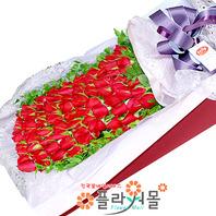 아이 러브 유 100송이 장미_ 대형장미꽃상자 빨간장미백송이 꽃선물의 정석 플라워몰