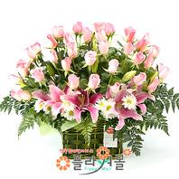 [당일배송]사랑합니다♡ 장미 꽃바구니 꽃다발 생일 기념일 꽃선물_꽃배달당일배송_명품 전국꽃배달_[플라워몰]