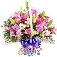 [당일배송]한여름의 열정♡ 핑크장미 꽃바구니 꽃다발 생일 기념일 꽃선물_전국 당일꽃배달서비스_명품꽃배달[플라워몰]
