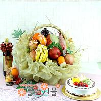 정(情)(특)(계절과일,샴펜(무알콜),케익)