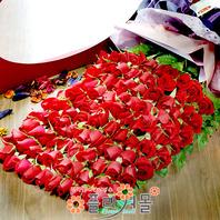 러브 러브 백송이장미 대왕꽃다발 빨간장미 생일 기념일 꽃선물_전국꽃배달_[플라워몰]