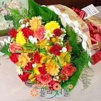 [당일배송]내 사랑♡ 장미 혼합 꽃다발 생일 기념일 꽃선물_전국 당일꽃배달서비스_명품꽃배달[플라워몰]