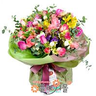 [당일배송]나의 공주님에게♡ 장미 혼합 꽃다발 생일 기념일 꽃선물_전국 당일꽃배달서비스_명품꽃배달[플라워몰]