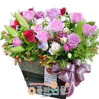 [당일배송]나의 공주님에게♡ 장미 꽃바구니 꽃다발 생일 기념일 꽃선물_꽃배달당일배송_명품 전국꽃배달_[플라워몰]