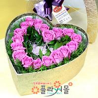 [당일배송]설레임♡ 하트장미꽃상자 생일 기념일 꽃선물_전국 당일꽃배달서비스_명품꽃배달[플라워몰]