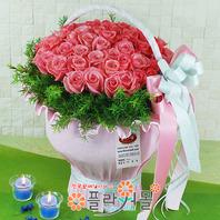 [당일배송]핑크드림(50송이)♡ 대형꽃바구니 생일 기념일 꽃선물_꽃배달당일배송_명품 전국꽃배달_[플라워몰]