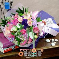 [당일배송]로맨틱한 날♡ 장미 혼합 꽃다발 생일 기념일 꽃선물_전국 당일꽃배달서비스_명품꽃배달[플라워몰]