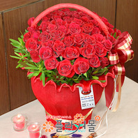 [당일배송]레드드림(50송이)♡ 대형꽃바구니 생일 기념일 꽃선물_전국 당일꽃배달서비스_명품꽃배달[플라워몰]