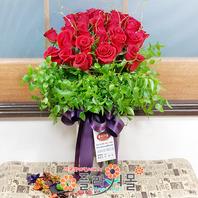 [당일배송]인연(꽃병)♡ 장미꽃다발 꽃병 생일 기념일 꽃선물_전국 당일꽃배달서비스_명품꽃배달[플라워몰]
