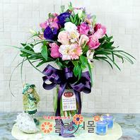 [당일배송]로마의 휴일(꽃병)♡ 장미혼합꽃다발 꽃병 생일 기념일 꽃선물_전국 당일꽃배달서비스_명품꽃배달[플라워몰]