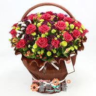[당일배송]천국의 계단♡ 장미 꽃바구니 꽃다발 생일 기념일 꽃선물_꽃배달당일배송_명품 전국꽃배달_[플라워몰]