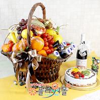 웰빙골드3호(과일,음료,샴펜(무알콜),케익)