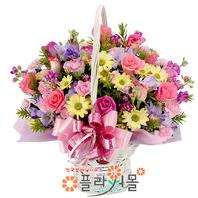 [당일배송]소망편지♡ 장미 꽃바구니 꽃다발 생일 기념일 꽃선물_꽃배달당일배송_명품 전국꽃배달_[플라워몰]