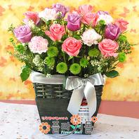 [당일배송]그대를 향한 열정♡ 장미 꽃바구니 꽃다발 생일 기념일 꽃선물_꽃배달당일배송_명품 전국꽃배달_[플라워몰]