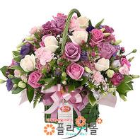 꽃바구니★a-숨길수없는 사랑~!★생일/결혼기념/꽃배달서비스[플라워몰]